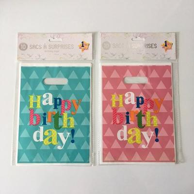 10 sacs happy birthday joyeux anniversaire