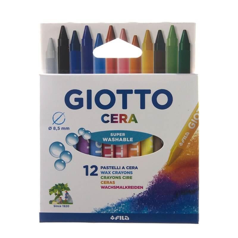 12 crayons cire giotto cera