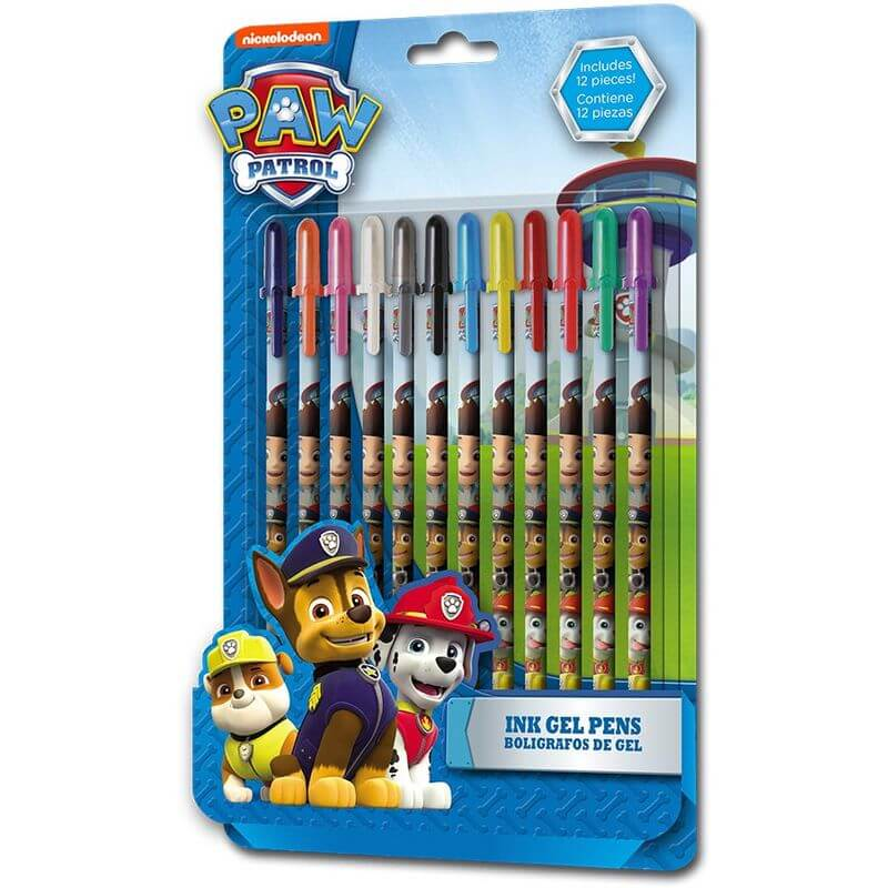 12 stylos gel pat patrouille idee cadeau au top