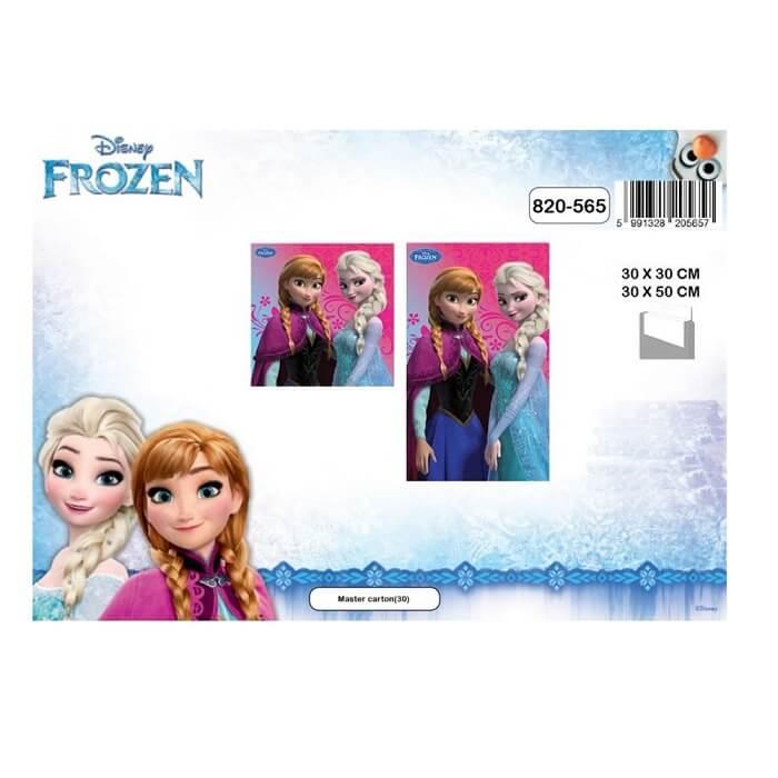 2 serviettes la reine des neiges enfant pour les mains et multi usages