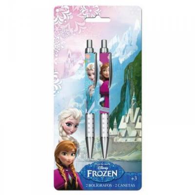 Lot de 2 stylos La reine des neiges sous licence Disney