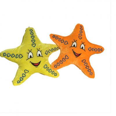 Peluche étoile souriante de 30 cm.