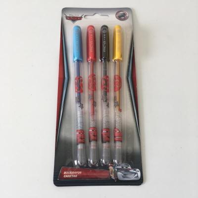 Pack de 4 stylos Cars sous licence Disney