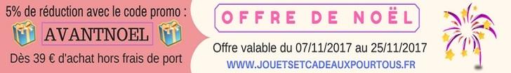 5 de reduction avant noel sur www jouetsetcadeauxpourtous fr