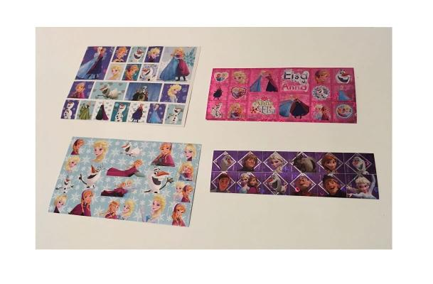 65 stickers la reine des neiges disney