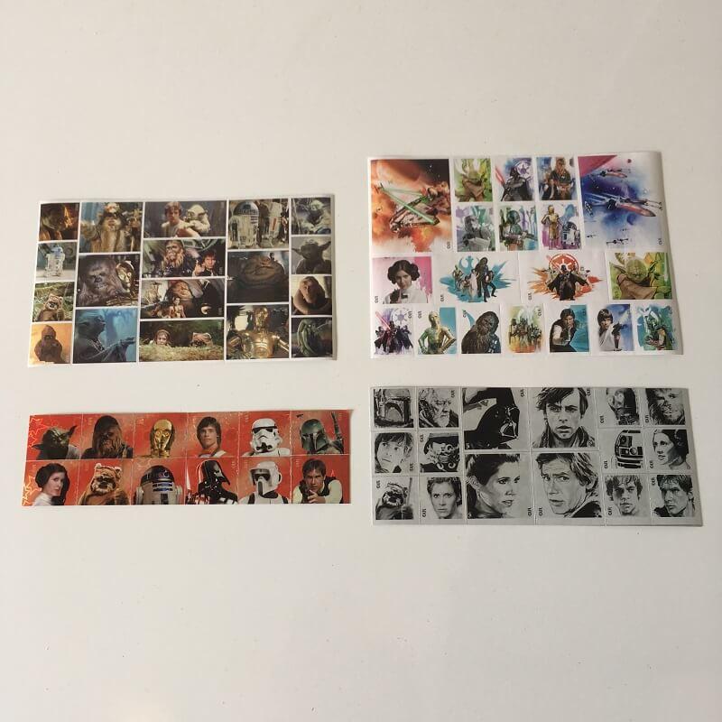 65 stickers star wars disney