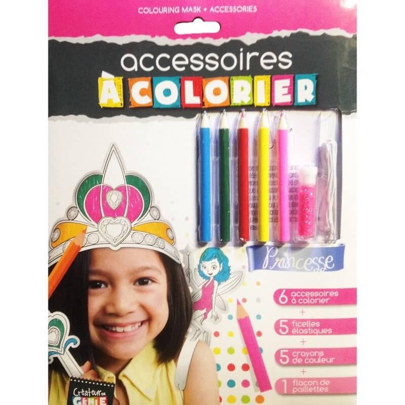 Accessoires a colorier princesse