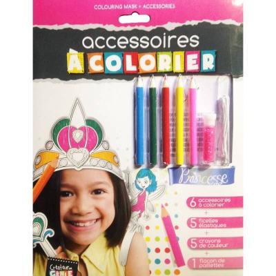 Accessoires à colorier Princesse