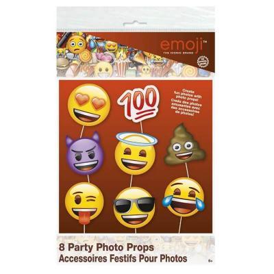 Kit photobooth 8 pièces Emoji