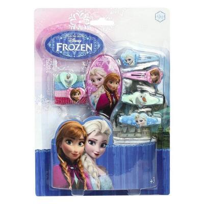Kit accessoires pour cheveux avec brosse La reine des neiges
