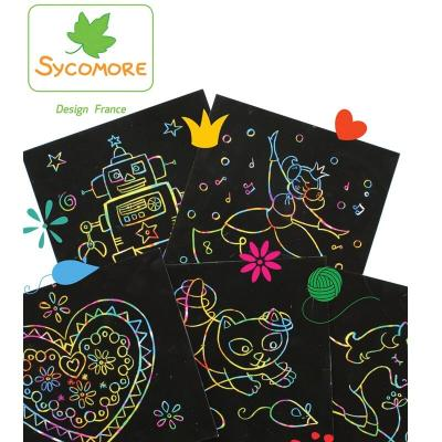 Activite manuelle enfant kit scratch art