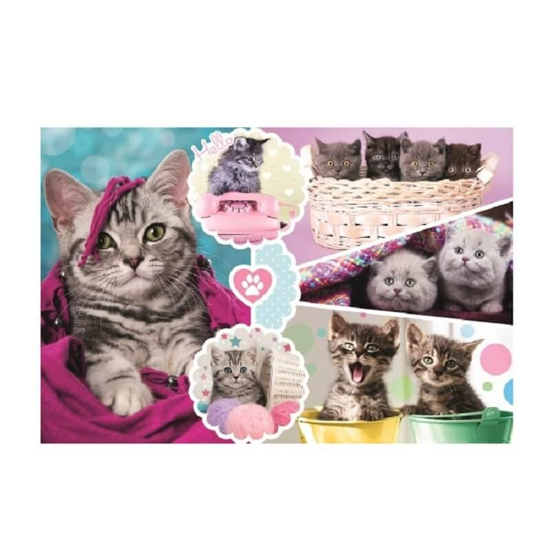 Adorable puzzle chatons trefl