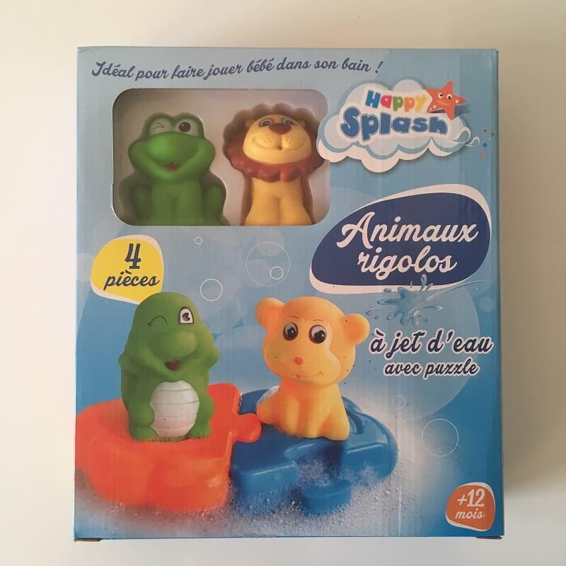 Animaux pour le bain rigolos a jet d eau version lion et grenouille
