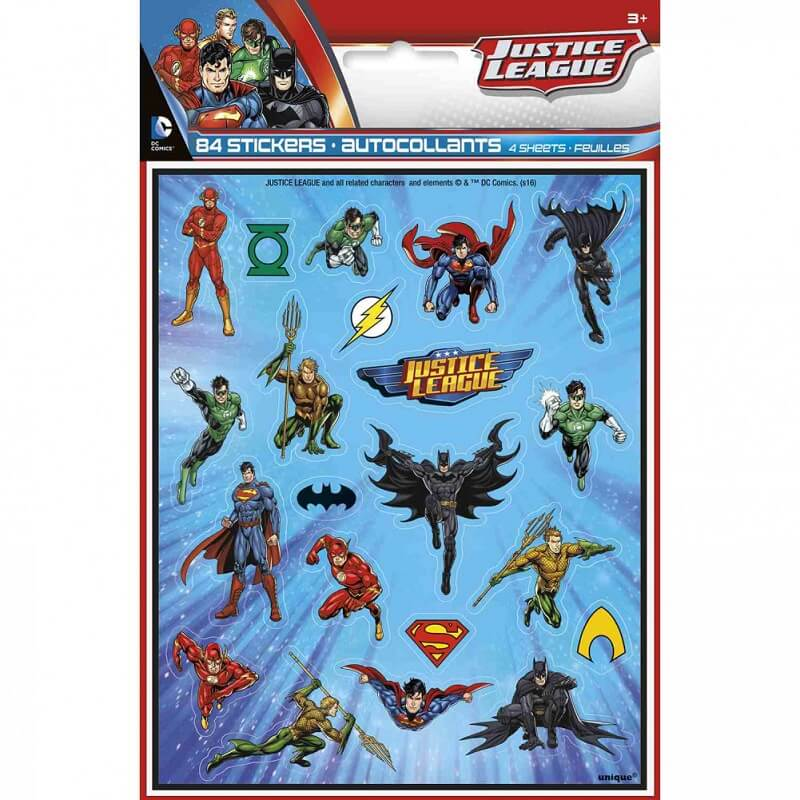 Autocollants justice league pack 84 stickers