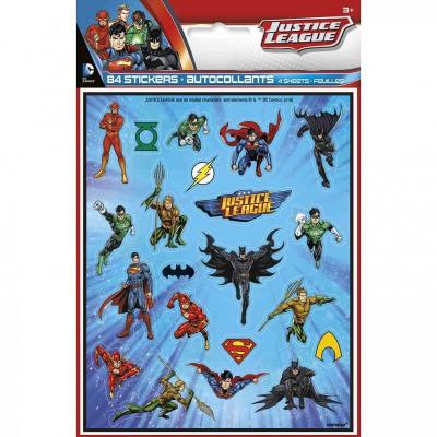 84 Stickers autocollants Justice League