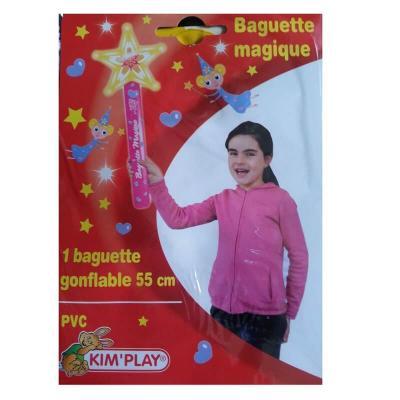 Baguette gonflable magique étoile de 55 cm.