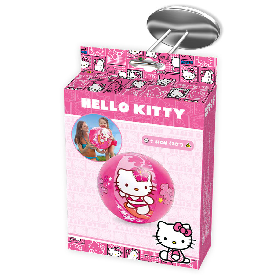 Ballon gonflable plage hello kitty a partir 3 ans