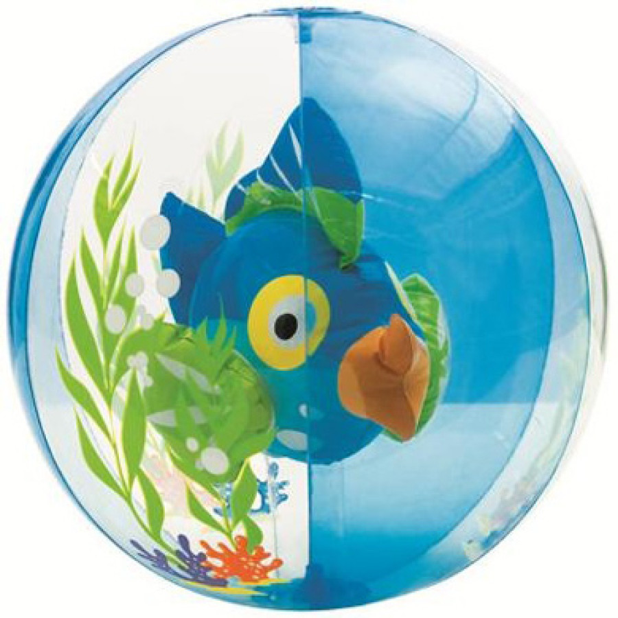 Ballon poisson aquarium bleu