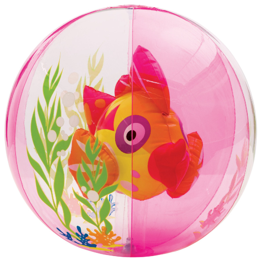 Ballon poisson aquarium rose