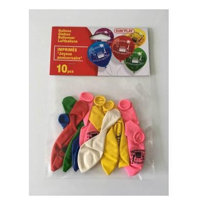 Ballons Joyeux anniversaire à gonfler par 10 pièces