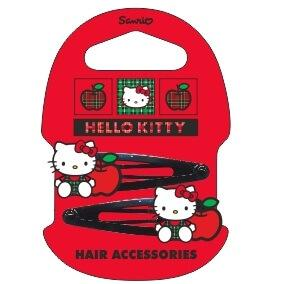 Lot de 2 barrettes Hello Kitty enfant clic clac