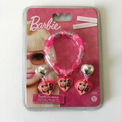 Bijoux barbie bracelet et boucles d oreilles