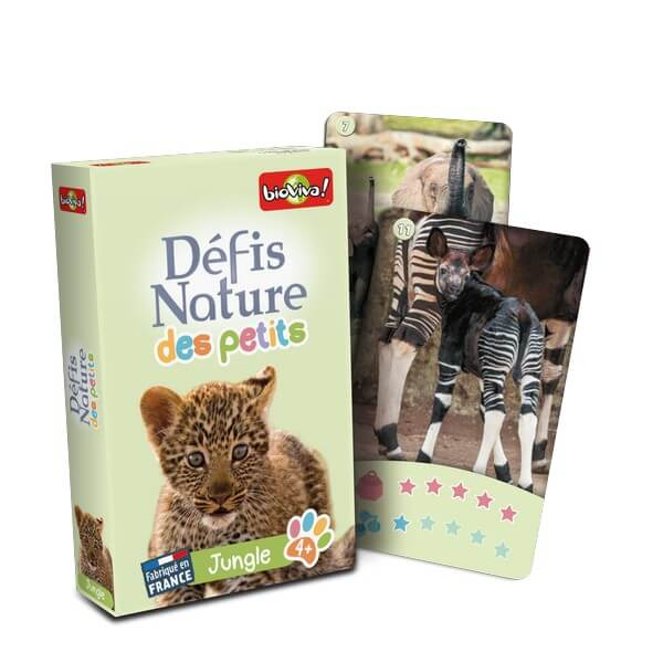 Jeu de cartes Bioviva : Les animaux de la jungle