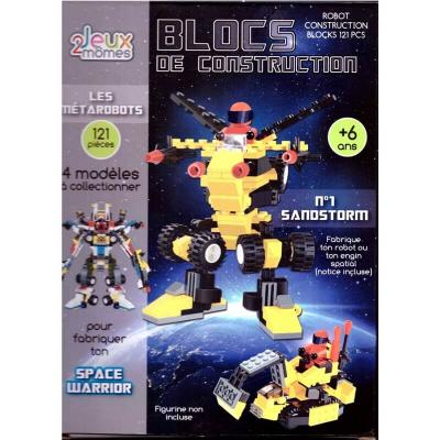 Blocs de construction enfant les metarobots version sandstorm jeux 2 momes