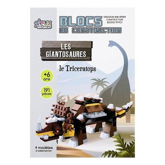 Blocs de construction les giantosaures le triceratops