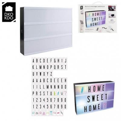 Boîte à messages lumineuse A4 multicolore Lightbox