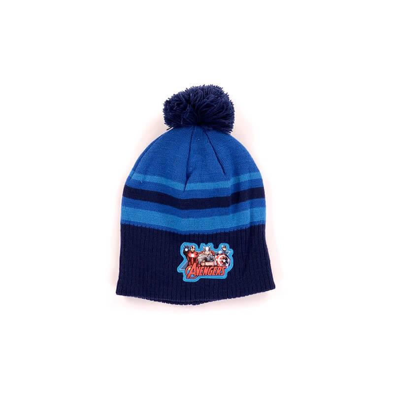 Bonnet avengers a pompon bleu 5991327709323