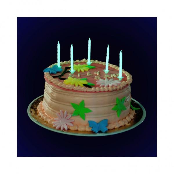 Bougies anniversaires phosphorescentes x 20 2