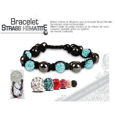 Bracelet strass hématite brillance ultime