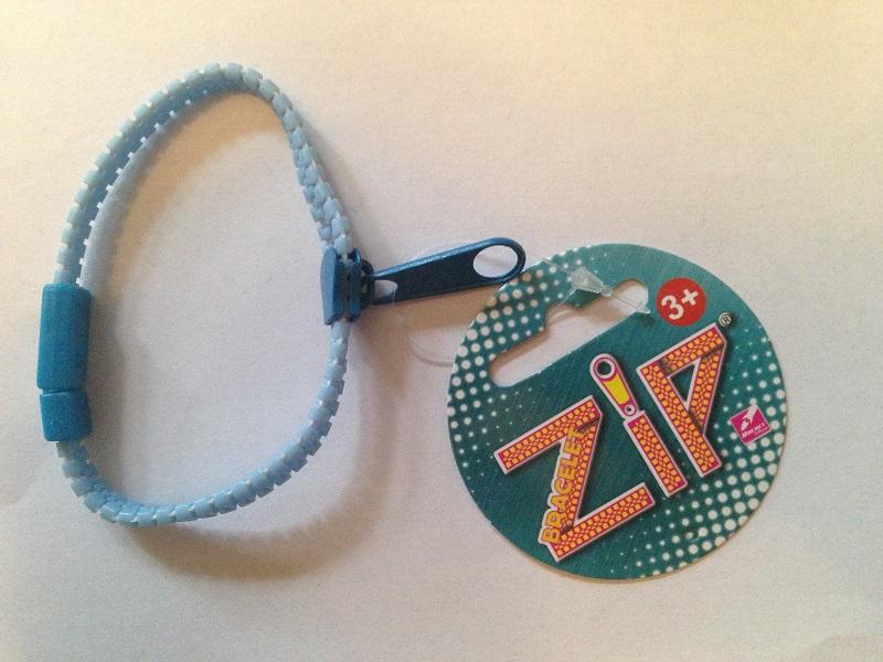 Bracelet zip bleu 1
