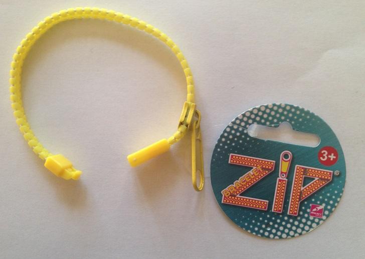 Bracelet zip jaune 2