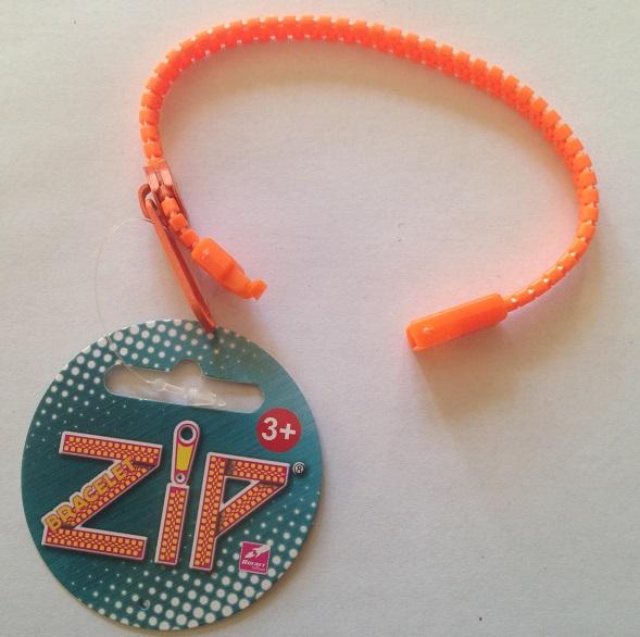 Bracelet zip orange 3