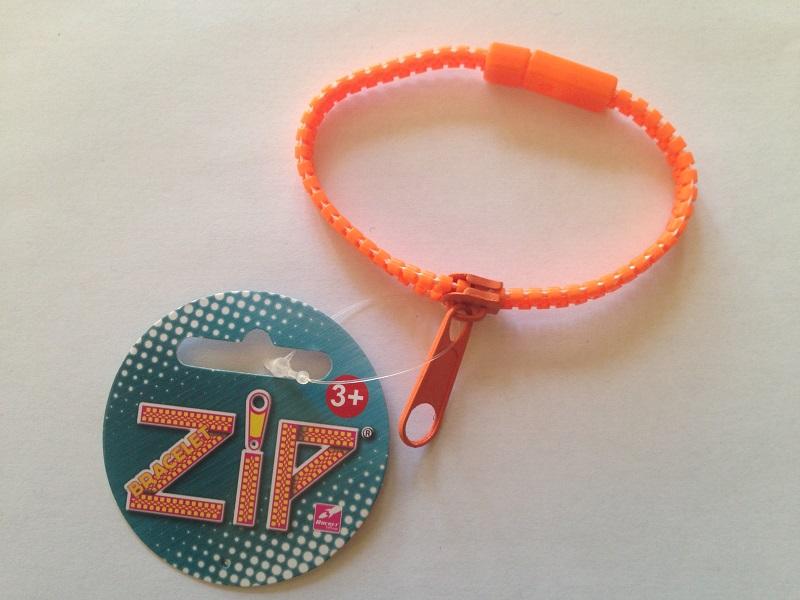 Bracelet zip orange 5