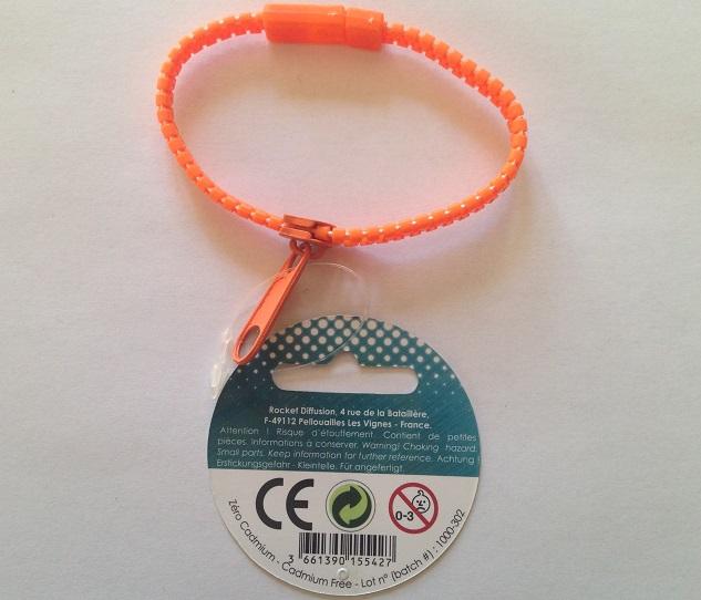 Bracelet zip orange