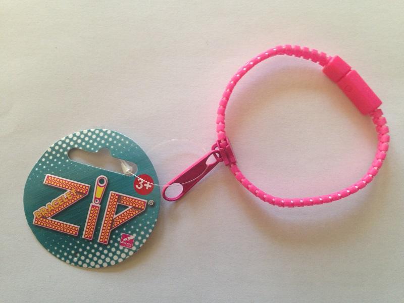 Bracelet zip rose 1