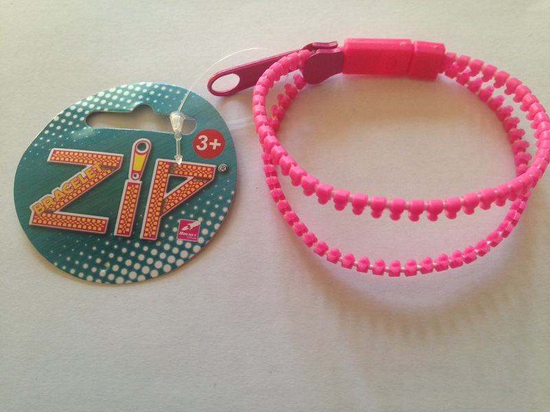 Bracelet zip rose 4