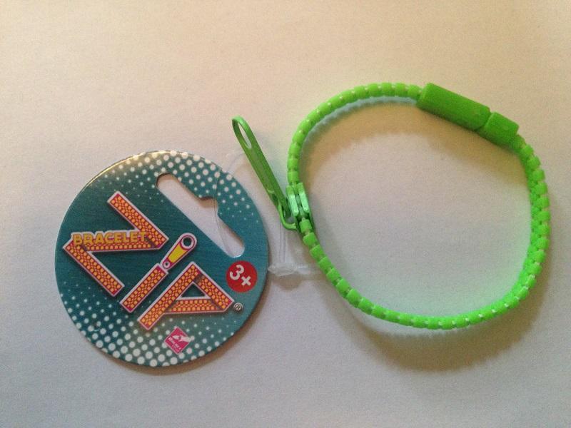 Bracelet zip vert 1