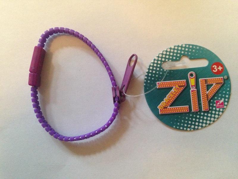 Bracelet zip violet 1