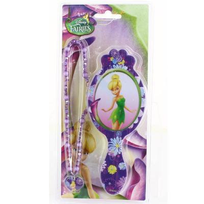 Brosse à cheveux Disney Fairies et son collier