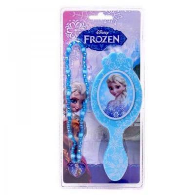 Brosse à cheveux et collier La reine des neiges