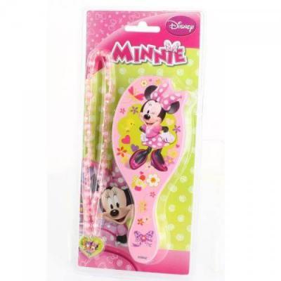 Brosse à cheveux et collier Minnie Disney