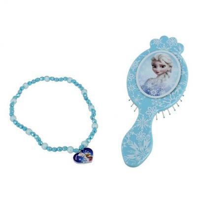Brosse a cheveux La reine des neiges Disney et collier