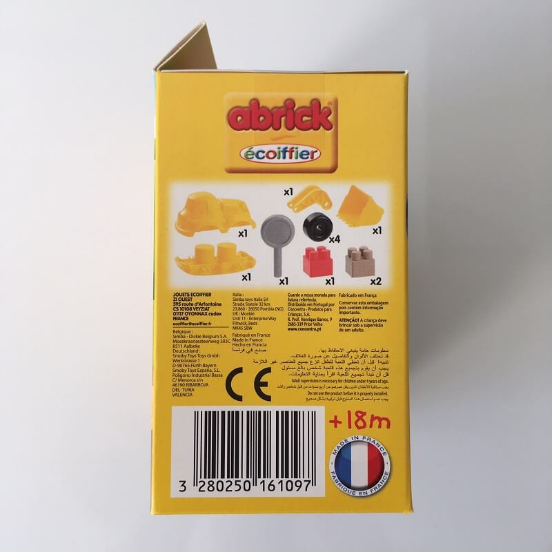 Bulldozer abrick ecoiffier jouet fabrique en france