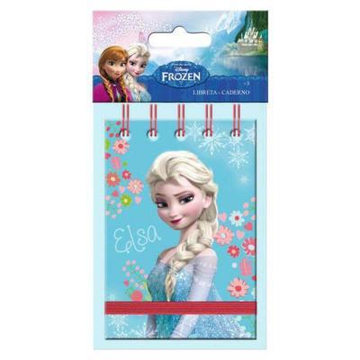 Carnet La reine des neiges Disney avec élastique