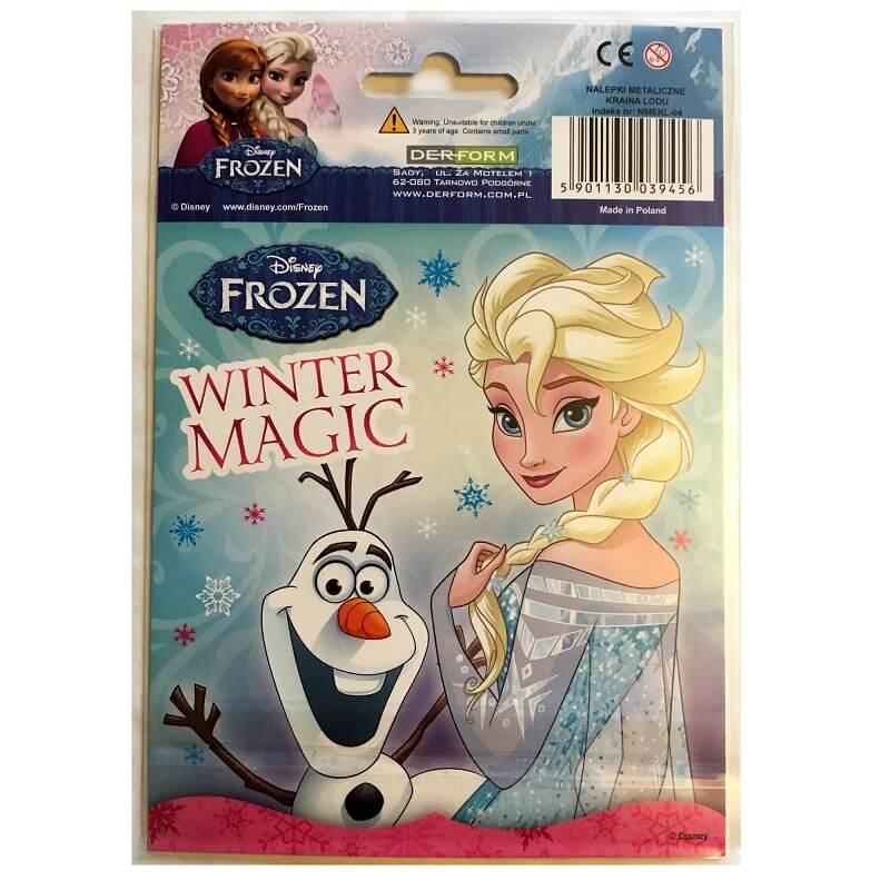 Carte postale la reine des neiges et stickers version 1
