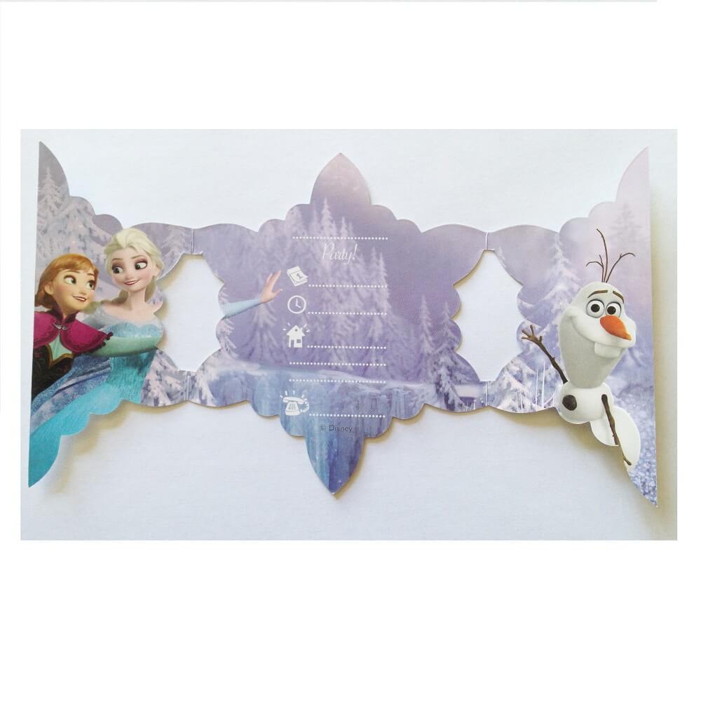 Cartes anniversaire invitation la reine des neiges